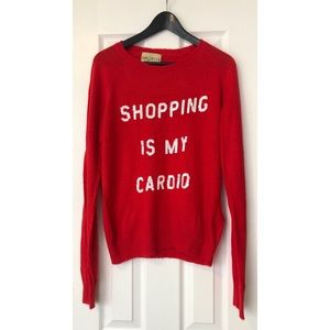Wildfox- Shopping Is My Cardio Sweater